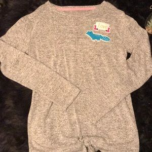Cat & Jack girl's XL gray embroidered sweater.